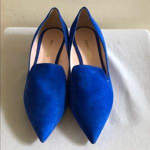 NICHOLAS KIRKWOOD Blue Suede Casati Pearl Loafers
